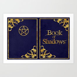 Blue Book of Shadows v2 Art Print