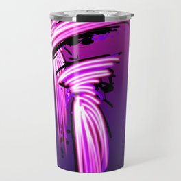 Fashion models in pink silk couture looking out to sea Travel Mug