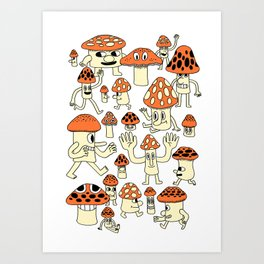 Fun Guys Art Print