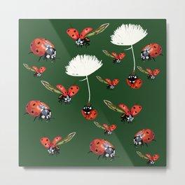 Ladybug flight Metal Print