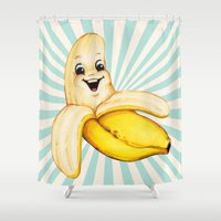 banana Shower Curtains featuring Banana by Kelly Gilleran