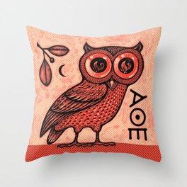 Athena's Owl Throw Pillow