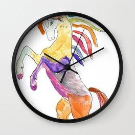 The Colorful Rainbow Fantasy Unicorn Wall Clock
