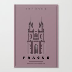 Minimal Prague City Poster Canvas Print