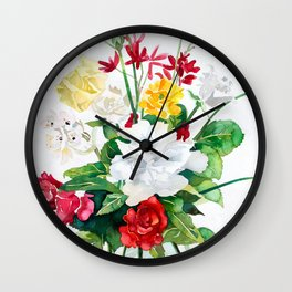 Flowers From My Garden Wall Clock