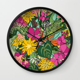 Tropics and Plants Wall Clock