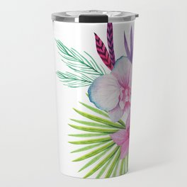 Just One More Chapter w/ flowers Travel Mug