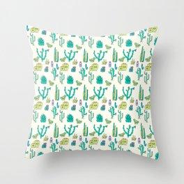 Cacti Critters Throw Pillow