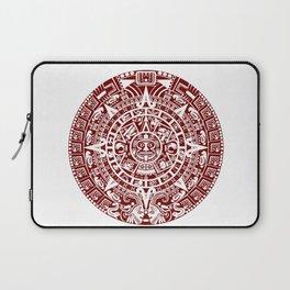 Mayan Calendar // Burgundy Laptop Sleeve
