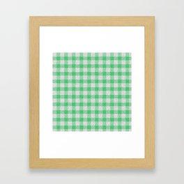Emerald Buffalo Plaid Framed Art Print