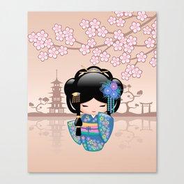Japanese Keiko Kokeshi Doll Canvas Print