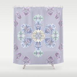 Pastel wildflowers Shower Curtain