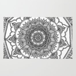 White Henna Bloom Rug
