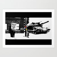 war Art Prints featuring War by Hiver & Leigh