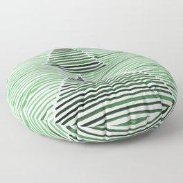 Rosario Watercolor Print in Dark Green Floor Pillow