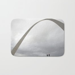 Gateway Arch and people Bath Mat