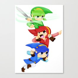 Legend of Zelda: Tri-Force Heroes Canvas Print