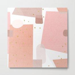 Confetti in Pink Metal Print