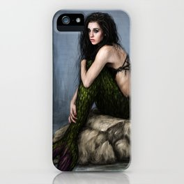 Mermaid and the Lighthouse iPhone Case
