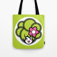 pagan Tote Bags featuring Pagan Lime by Pagan Holladay