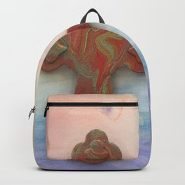 Celtic Cross Watercolor Backpack