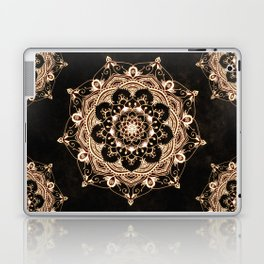 Glowing Spirit Black White Mandala Design Laptop & iPad Skin
