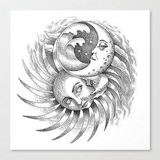 Moon and Sun Canvas Print
