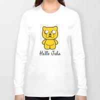 jake Long Sleeve T-shirts featuring Hello Jake by Faniseto