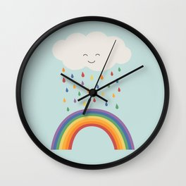 let's make rainbows Wall Clock