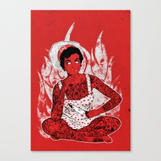 Housewife From Hell Canvas Print