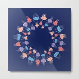 Jellyfish pattern Metal Print