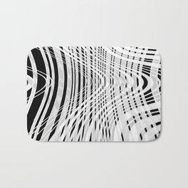 curvy barcode Bath Mat