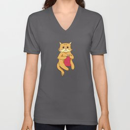 Knitting Cat Unisex V-Neck