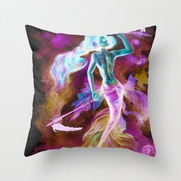 Galactic warrior Throw Pillow
