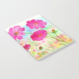 Symphony In Pink, Watercolor Wildflowers Notebook