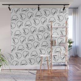 Gamer on White Wall Mural