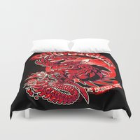 bug Duvet Covers featuring BUG STOMPER by BeastWreck