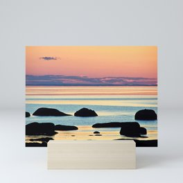 Circle of Rocks and the Sea at Dusk Mini Art Print