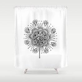 Complex Flower Shower Curtain