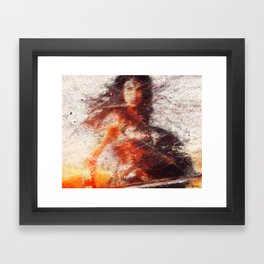 fight like a girl Framed Art Print