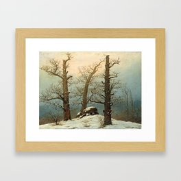 Cairn in Snow by Caspar David Friedrich, 1807 Framed Art Print