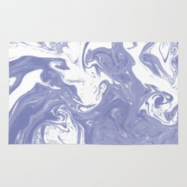 Nanami - spilled ink water pisces wave marble pattern marbling japanese watercolor Rug