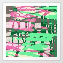 green adventure Art Print