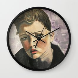 Purple Expression Wall Clock