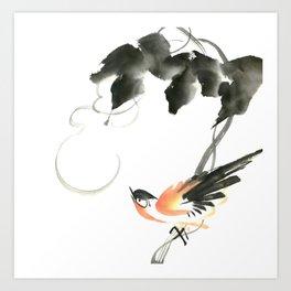 Bird 3- Chinese Shui-mo (水墨) Art Print