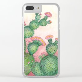 Prickly Pear Cactus Clear iPhone Case