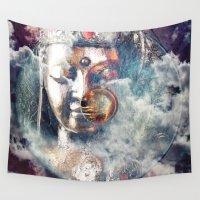 buddha Wall Tapestries featuring Buddha by KunstFabrik_StaticMovement Manu Jobst