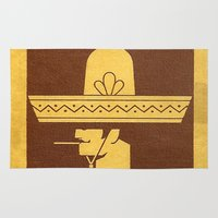 cigarette Area & Throw Rugs featuring Mexicano - Vintage Cigarette by Fernando Vieira