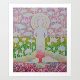 Peace of mind is liberated. Art Print