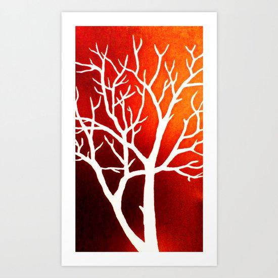 BLAZING TREES Art Print